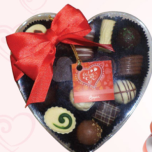 Boxed Heart Shaped Chocolates