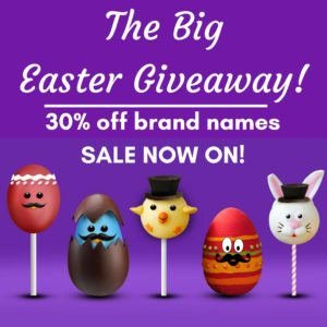 The Big Easter Giveaway! 30% off of name brand items for a limited time only!