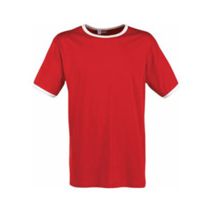 Mens Adelaide Contrast Red T-Shirt