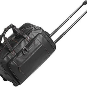 Adpel Great Escape Rolling Duffel Bag on Wheels Black