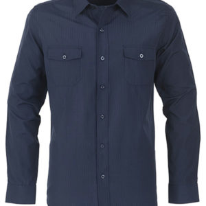 Bayport Long Sleeve Shirt Mens Navy