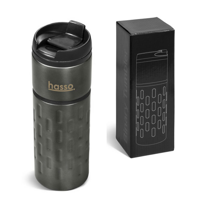 Gray House Binary Tumbler Promotional Gift