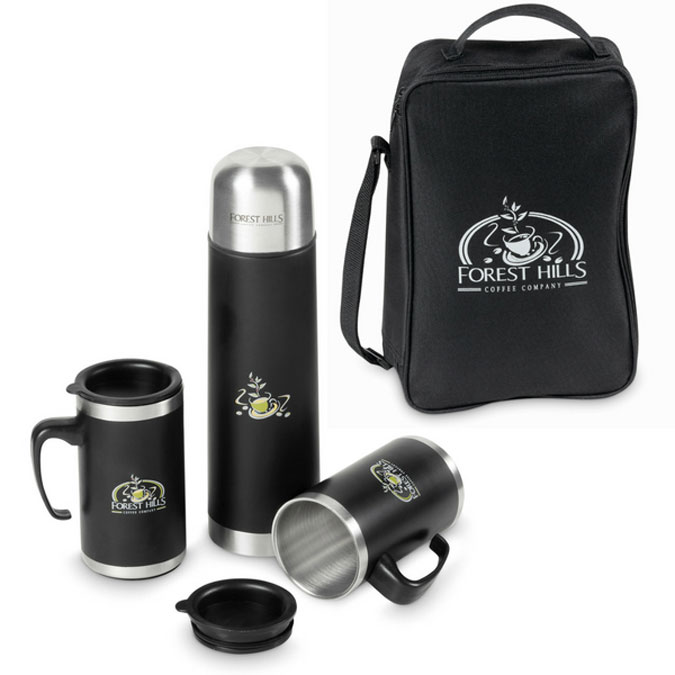 Gray House Corporate Gifts Flask Mug Set 1