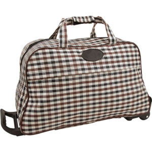Checkered Trolley Bag