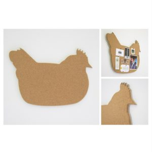 Chicken Shaped Cork Pin Board - Grayhouse
