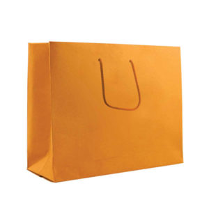 Colour Medium Carrier Bag Orange