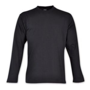 Combed Cotton Long Sleeve T-Shirt Black