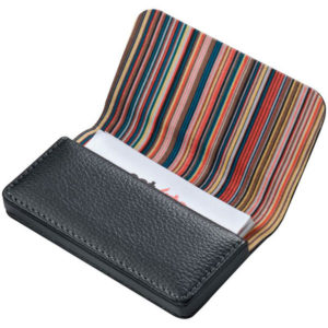 Crisma Stripe Design Business Card Holder