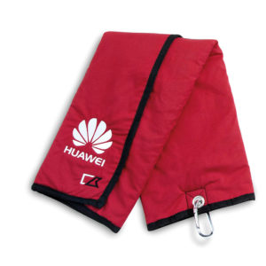 Cutter and Buck Deluxe Golf Towel with Pocket Red