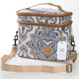 White Flower Caddy Cooler Bag