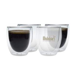 Double Walled Glass Mug Set 2