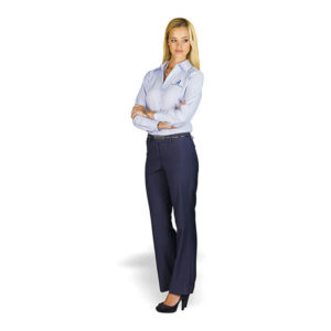 Erin Flat Front Pants Ladies Black