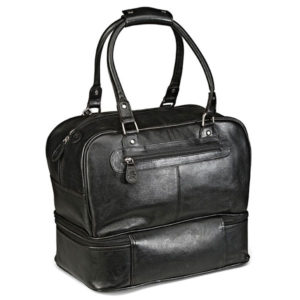 Gary Player Leather Double Decker Bag Black