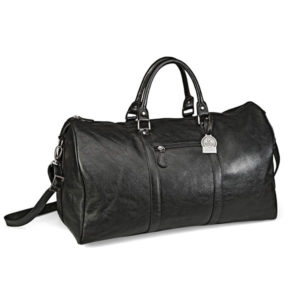 Gary Player Leather Overnight Bag Black