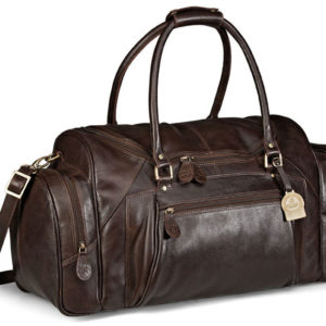 Gary Player Leather Weekend Bag Brown