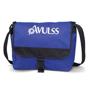 Graffiti Messenger Bag Blue