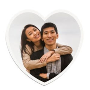 Heart Shaped Printed Magnet