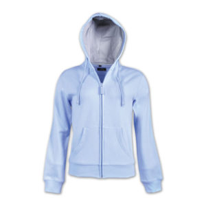Ladies Zip-Up Fleece Hoodie Blue