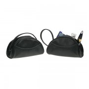 Leather Cosmetic Purse Black