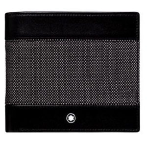 Meisterstruck Montblanc Wallet 8cc Black and Grey Canvas Wallet