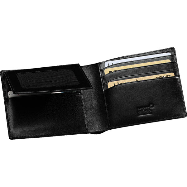 montblanc meisterstuck wallet 11cc with view pocket gray house promotions. Black Bedroom Furniture Sets. Home Design Ideas
