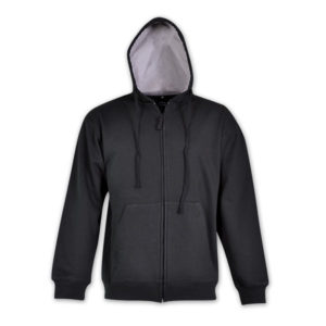 Mens Zip Up Fleece Hoodie Black