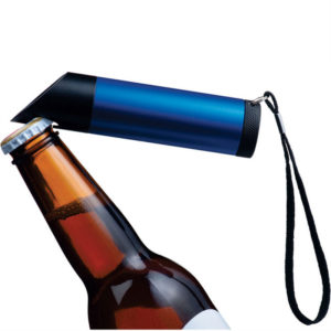 Metal Torch with 9 LED'S and Built in Bottle Opener