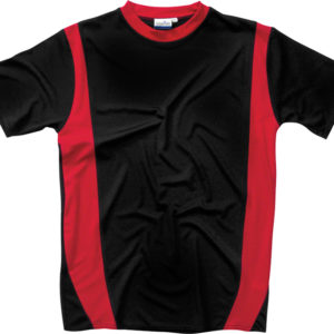 Moisture T-Shirt Red and Black