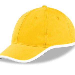 New Jersey 6 Panel Cap Yellow