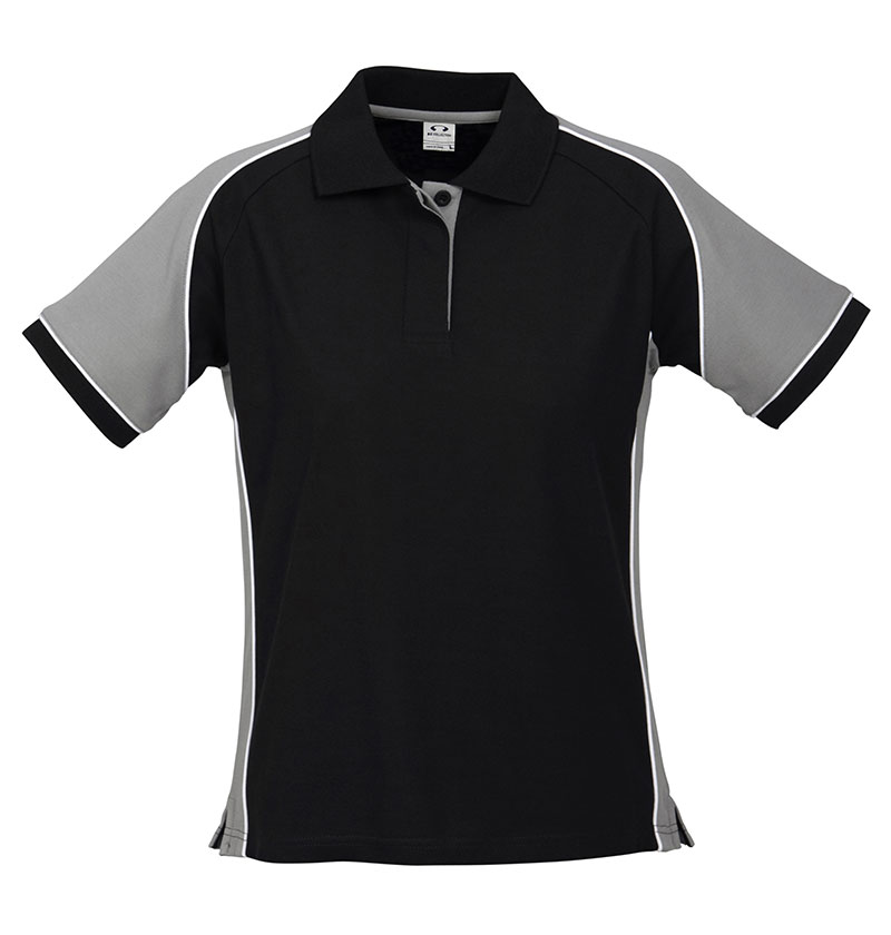 Nitro golf shirt ladies gray house promotions for Black golf polo shirt