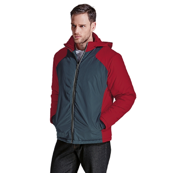Oak Jacket Grey & Red Front