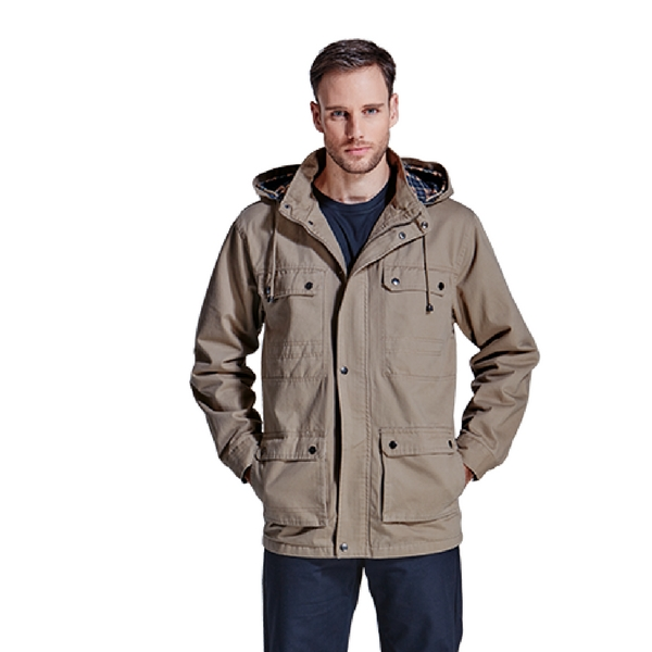 Oak Jacket Grey Front - Grayhouse
