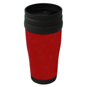 Plastic Carry Mug Red