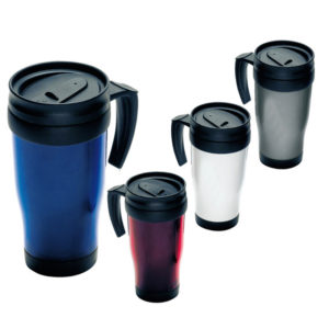 Plastic Double Walled Thermal Travel Mug