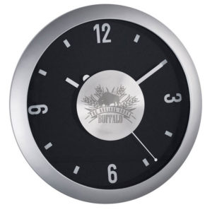 Plastic Wall Clock with Aluminium Center