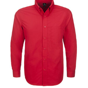 Preston Long Sleeve Shirt Mens Red