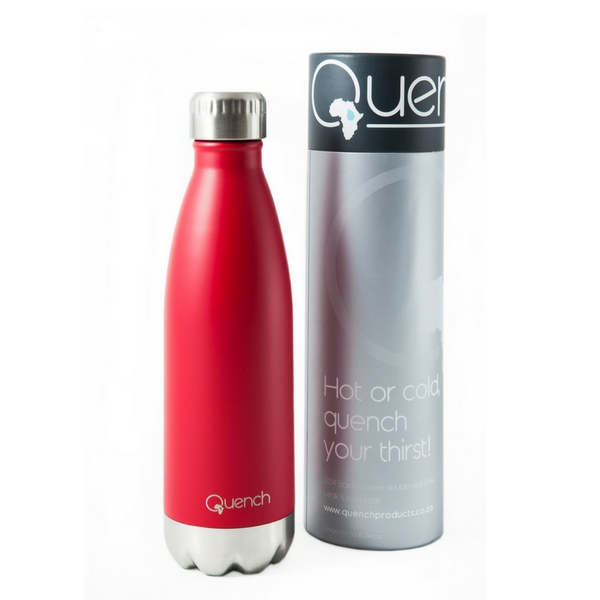 Quench Stainless Steel Locally Made Water Bottles Gray