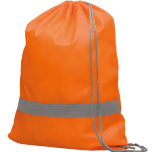 Reflective Drawstring Bag Orange