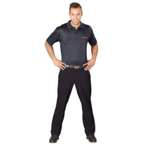 Slazenger Double Mercerized Golf Shirt Mens Black