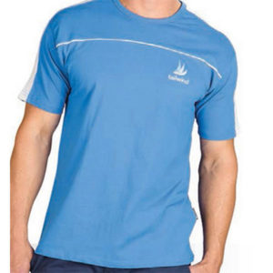 Slazenger Men Stripe T-Shirt Blue