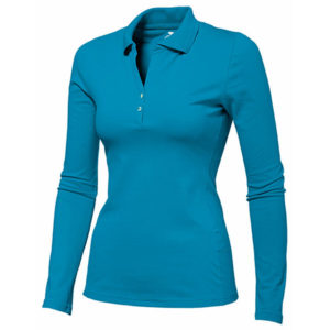 Slazenger Zenith Long Sleeved Golf Shirt Ladies Blue