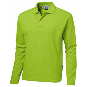 Slazenger Zenith Long Sleeved Golf Shirt Mens Lime