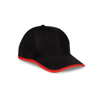Soho 6 Panel Cap Red
