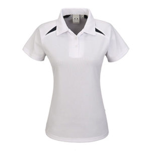 Splice Golf Shirt Ladies White