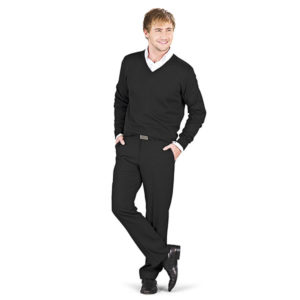 Trenton V-Neck Sweater Mens Black