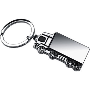 Truck Shaped High Gloss Metal Keyring
