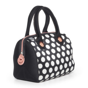 Uptown Lunch Tote Metallic Black 1