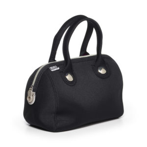 Uptown Lunch Tote Metallic Black