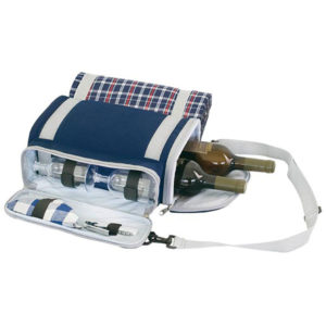 Wine Bag with Picnic Blanket Blue