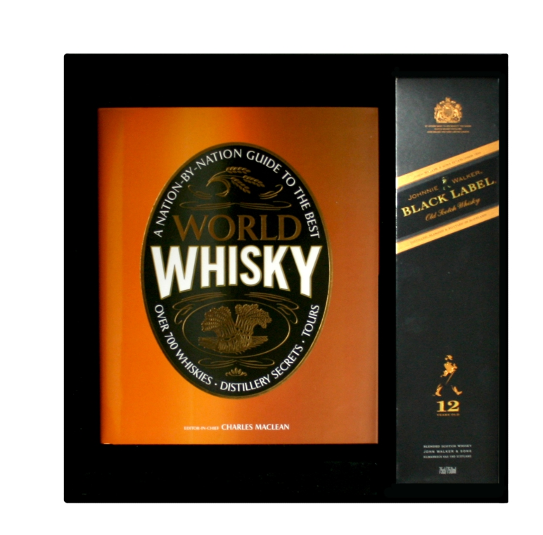 Book Cover Black Label ~ World of whiskey book with johnnie walker black label in